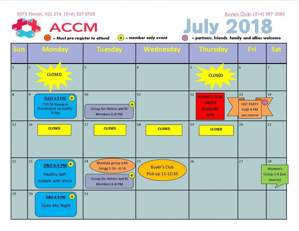 July 2018 Calendar side 1