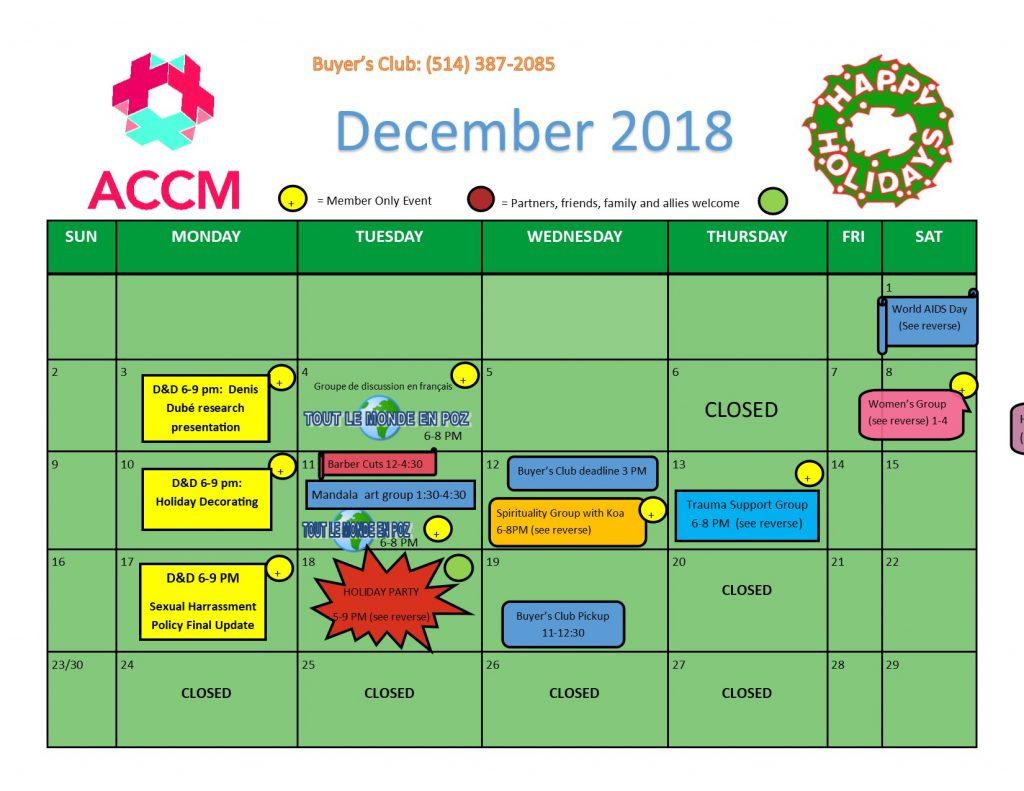 December Calendar side 1