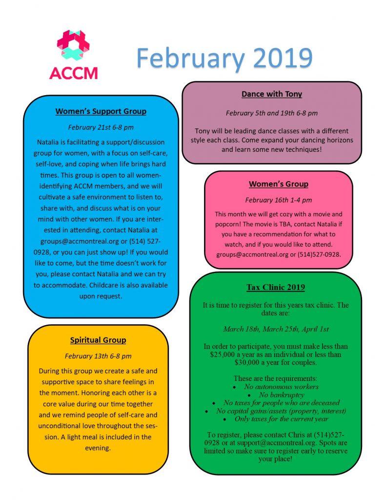 February Calendar side 2