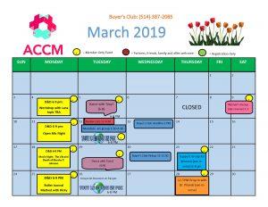 March Calendar Side 1