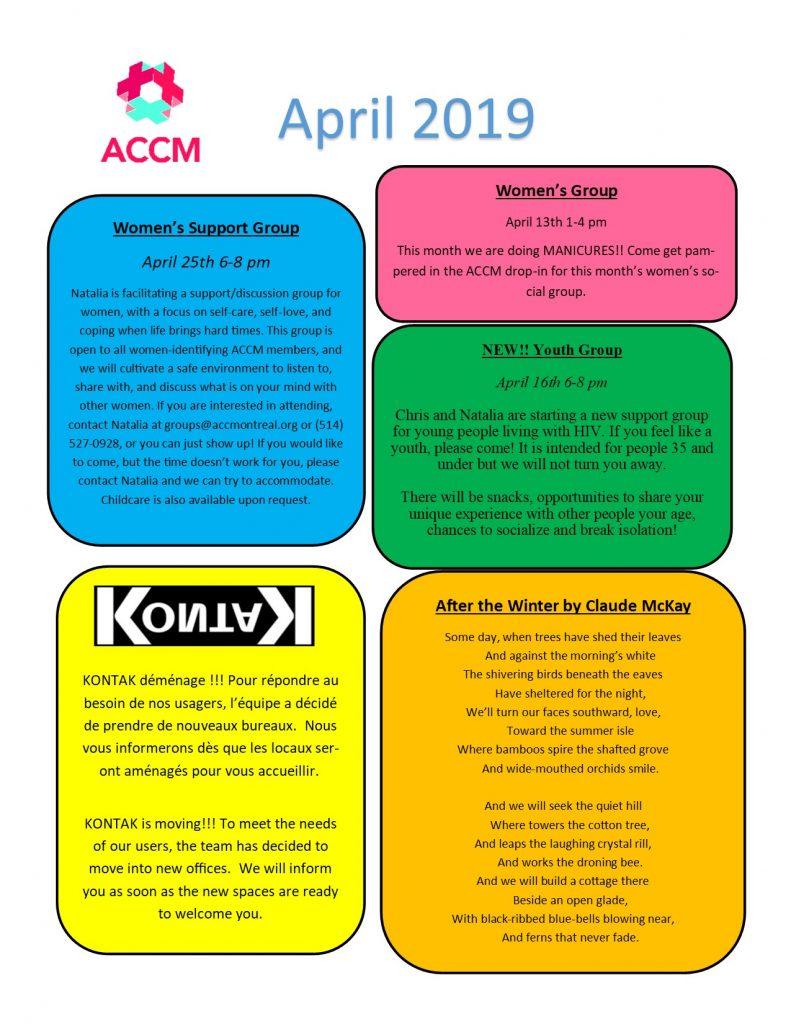 April Calendar side 2