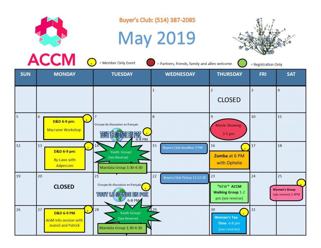 May Calendar side 1