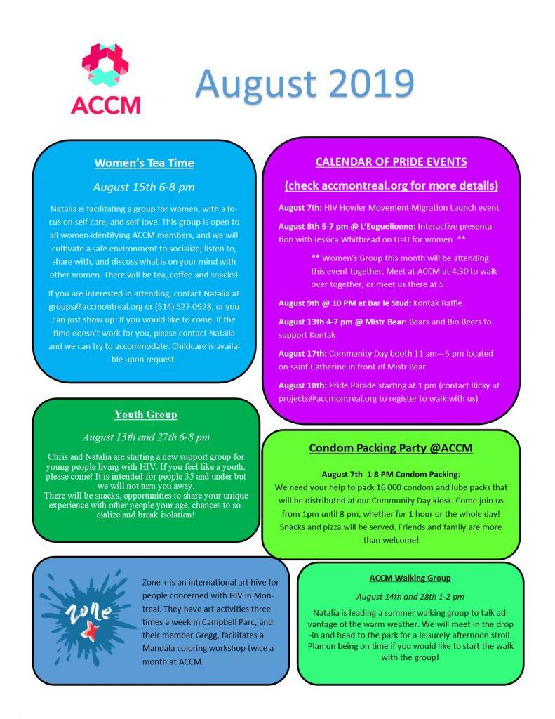 August Calendar Side 2