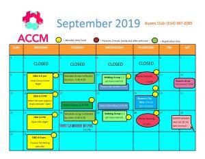 September calendar side 1